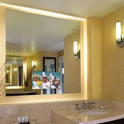 Electric Mirror - Electric Mirror Serenity SER-154-AV - Electric Mirror Lighted Mirror TV - SER-154-AV