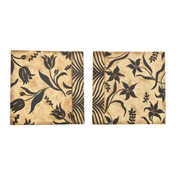 ecWorld - Handcrafted Carved Flowers Wooden Wall Art Decor - Set of Two - Inspired by pyrography or wood burning, you will fall in love with these beautiful flower designs. This piece adds depth and intrigue to modern decor - you'll love it!