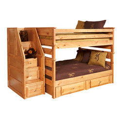 Chelsea Home Furniture - Chelsea Home Full Over Full Bunk Bed Without Storage And  Stairway Chest - Providing home elegance in upholstery products such as recliners, stationary upholstery, leather, and accent furniture including chairs, chaises, and benches is the most important part of Chelsea Home Furniture's operations. Bringing high quality, classic and traditional designs that remain fresh for generations to customers' homes is no burden, but a love for hospitality and home beauty. The majority of Chelsea Home Furniture's products are made in the USA, while all are sought after throughout the industry and will remain a staple in home furnishings.