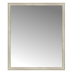 """Posters 2 Prints, LLC - 40"""" x 47"""" Libretto Antique Silver Custom Framed Mirror - 40"""" x 47"""" Custom Framed Mirror made by Posters 2 Prints. Standard glass with unrivaled selection of crafted mirror frames.  Protected with category II safety backing to keep glass fragments together should the mirror be accidentally broken.  Safe arrival guaranteed.  Made in the United States of America"""