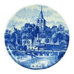 Chemkefa - Small Consigned Vintage Blue Delft Plate Lente Spring - Product Details