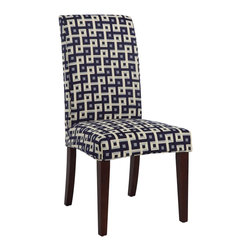 """Powell - Powell Navy & Cream """"Slip Over"""" Slipcover X-Z742-147 - Designed exclusively for our """"Slip Over"""" Seating, this soft, inviting slipcover retains its smooth fit and removes easily for cleaning or changing. The Navy and Cream """"Slip Over"""" is a great way to make your existing furniture new and different. Featuring a fun geometric Navy & Cream pattern fabric - 60% polyester, 40% rayon, this """"Slip Over"""" is visually interesting and would make a great addition to your home. For use with 741-440 chair."""