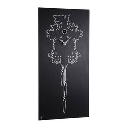 Progetti - CuCu 1610 Black Cuckoo Wall Clock - Cuckoo clock made in ebonized wood or wenge. Battery quartz movement. The Cuckoo strike is switched off automatically during the night controlled by a light sensor.