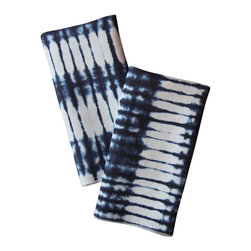 l'aviva home - Stone Linen Napkins, Set of 2 - This collection was developed in collaboration with habibou coulibaly, the master artisan we have long worked with in burkina faso. oversized swaths of each pattern were hand-dyed in natural indigo, and served as the source of our adaptation.