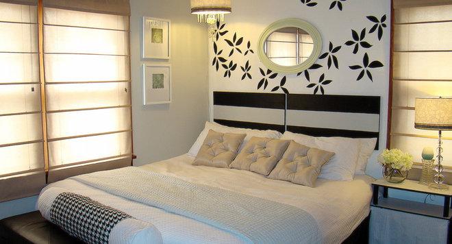 Eclectic  Original bedroom idea!