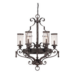 Highlands 6 Light Chandelier - This distinctive collection has a beautiful Forged Black finish and Clear Seeded glass globes which will glow beautifully in your home. Weight: 45. 76 lbsFinish: Forged BlackBulb Wattage: 60Glass: Clear SeededNumber of Bulbs: 6Candle Covers: Forged Black MetalType of Bulb: CNumber of Arms: 6Bulbs Included: NoSafety Rating: UL, CULVoltage: 120