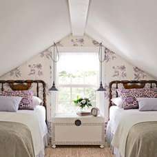 Traditional  Attic bedroom