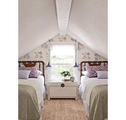 traditional bedroom Attic bedroom