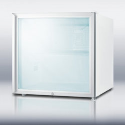 "Summit - FFAR2LGL7 20"" 1.8 cu. ft. Commercially Approved Cube Shaped Compact Refrigerator - Get all the convenience of automatic defrost refrigeration in a compact size with SUMMIT39s commercially approved FFAR2LGL7 At just 20 high and wide this cube shaped unit has a compact size for any location The white cabinet includes a solid glass do..."