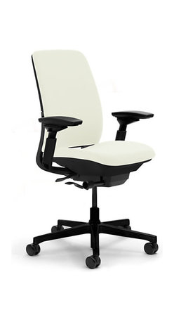 Steelcase - Steelcase Amia Task Chair, Black Base w/Arm & Standard Casters, Coconut - Covering your back: This task chair is created with a unique LiveLumbar system of flexors that contour to fit your spine and move with you throughout the day. So when the task at hand proves stressful, you know you're completely supported.