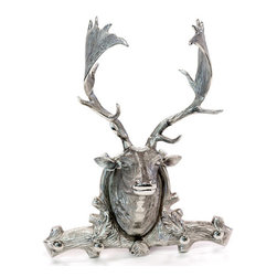 Go Home - Go Home Cabin Deer head with Hooks - The very elegant Cabin Deer head with Hooks doles out twin purpose. It is an enormous wall decor and a clasp to hang items. Made up of polished aluminum, this ostentatious deer head appears beautiful in any country style recoil. The Antique European country collection cabin deer head is just perfect to display any lavish set up even in the modern times.