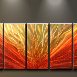 Matthew's Art Gallery - Metal Wall Art Abstract Modern Sculpture Handmade Phoenix - Name: Phoenix