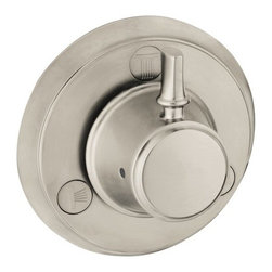 """Hansgrohe - Hansgrohe 04222820 Brushed Nickel C C Diverter Trim Only Trio / - C Diverter Trim Only Trio/Quattro with Metal Lever Handle Less ValveLever HandleFits Quattro Rough #15930181Fits Trio Rough #159841811"""" Extension Set #96370000 (Sold Separately) Coordinates with Metris S, Talis S, Focus S"""