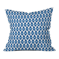 DENY Designs - Caroline Okun Paragon Outdoor Throw Pillow - Do you hear that noise? it's your outdoor area begging for a facelift and what better way to turn up the chic than with our outdoor throw pillow collection? Made from water and mildew proof woven polyester, our indoor/outdoor throw pillow is the perfect way to add some vibrance and character to your boring outdoor furniture while giving the rain a run for its money. Custom printed in the USA for every order.