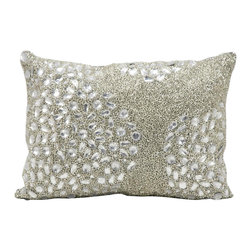 Nourison - Mina Victory Crystalline Luminescence 10 x 14-inch Throw Pillow - Jewelry for your room,this elegantly handcrafted rhinestone,bead and embroidered pillow adds a touch of sparkle to your day. This pillow does not require an insert and is fully stitched on all sides.