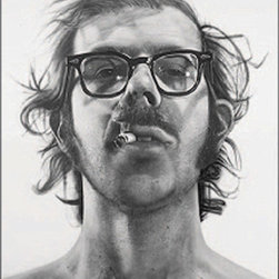 "Chuck Close Self-Portraits Street Banner Wall Art - From the San Francisco Museum of Modern Art, an authentic, limited edition street banner to display in your home as spectacular wall art. American artist, Chuck Close (b. 1940) is widely recognized as a mainstay of the contemporary art scene. Working in a wide array of media, the one constant in Close's work has been his subject matter: portraits (or as he calls them ""heads"".) These he has turned from mundane into magical, much in the way Pop artists took everyday items and elevated them to high art status."