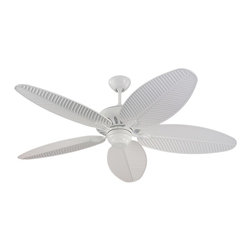 """Monte Carlo - Monte Carlo 5CU52WH Cruise White 52"""" Tropical Outdoor Ceiling Fan - Indoor or Outdoor WET Rated"""