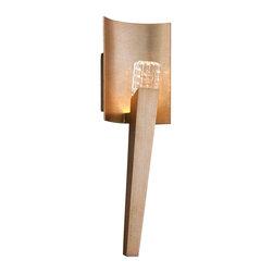 Corbett Lighting - Corbett Lighting 149-11 Stiletto Champagne Silver Leaf LED Wall Sconce - Corbett Lighting 149-11 Stiletto Champagne Silver Leaf LED Wall Sconce