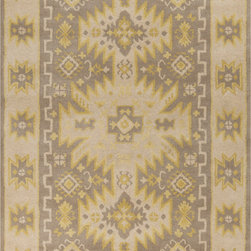 Surya - Surya Albuquerque ALQ-400 (Oyster Gray) 8' x 11' Rug - Southwestern style is reinterpreted in the Albuquerque Collection. Plush hand-tufted wool and sophisticated colors brings a softer take to this classic American style. At home in a ranch house in Texas or a cottage in Maine, Albuquerque brings a versatility to the popular aesthetic.