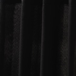 """Home Decorators Collection - Sheer Outdoor Curtain Panel - Neutral in color, our Outdoor Curtain Panel in Macmillan Sheer is quality crafted of polyester and will countinue to look great in any type of weather. Rust-proof aluminum grommets. 50""""W in three lengths."""
