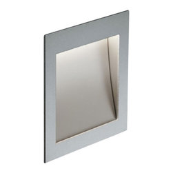 Nimbus - Nimbus Zen In M wall recessed light - The Zen In M wall recessed light was designed and made by Nimbus in Germany. This modern LED fixture is an efficient and elegant lamp that is perfectly suitable for near-ground installation for any use home or office. The light output of the Zen In M is distributed 100% directly but asymmetrically with a radiation angle of approximately 45 . The fixture is an elegant square and extremely flat surface mounted wall light with naturally anodised aluminium housing. Multiples conic identations, ultra-modern LED provide a total power of 1.5 watts integrated in the luminaire and spread a light output which is equivalent to the power of a 40 watts halogen bulb. The lamp is available in color temperatures of 2700 Kelvin (extra - warm white) 3000K (warm white) and 4000 Kelvin (neutral white). Also Zen In M comes in cavity mounted version or with flush-mounted installation kit with or without converter space. An external converter is required and not included in the package - please order separately.         Product Details: The Zen In M wall recessed light was designed  and made by Nimbus in Germany. This modern LED  fixture is an efficient and  elegant lamp that is perfectly suitable for near-ground installation for any use  home or office. The light output of the Zen In M is  distributed 100%  directly but asymmetrically with a radiation angle of approximately 45 .  The fixture is an elegant square and extremely flat surface mounted wall light with naturally anodised aluminium housing. Multiples conic identations, ultra-modern LED provide a total power of 1.5 watts integrated in the luminaire and spread a light output which is  equivalent to the power of a 40 watts halogen bulb. The lamp is available in color temperatures of 2700 Kelvin (extra - warm white) 3000K (warm white) and 4000 Kelvin (neutral white).  Also Zen In M comes in cavity mounted version or with flush-mounted installation kit with or without converter space. An