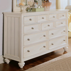 American Drew - American Drew Camden-Light Dressing Chest in White Painted - The Camden-Light Collection melds simple forms with quiet traditional references  gentle curves and a beautiful time worn ivory finish that lets the character of the wood show through. The brushed nickel finish hardware adds even more character to the Camden collection. This line will work great in your renovated farm house or a smaller beach cottage get-away.