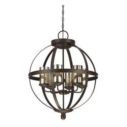 Sea Gull Lighting - Sea Gull Lighting 3110406 Sfera 6 Light 1 Tier Chandelier with Mercury Glass - Features: