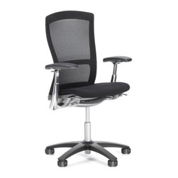 "Knoll - Life  High-Back Task Chair - Learn more about Life � High Back Task Chair below: Features at Glance • Specifications • Order with Confidence • Designer Back To Top features at Glance *This product is made to order and thus customer orders cannot be canceled once products go into production -Design Year: 2002 -Knit mesh back suspension fabric provides contoured comfort and support. -Auto-balance tension uses weight of user to activate release and recline. -Durable plastic seat pan perforated to prevent trigger points after long periods of sitting. -Only few simple controls. -Designed to minimize negative environmental impact. -Overall dimensions: 38.5"" - 43.75"" H x 26.5"" W x 24.5"" D. -For demonstration of Life Chair's features , please see Elements of Life. Awards: -Best of NeoCon Gold Award for Seating: Desk/Workstation Task Chairs, 2002. -IIDEX for Office Seating and Sustainable Design, 2002. -Good Design Award, Chicago Athenaeum, 2003. Care & Maintenance Back To Top Order with Confidence -Sustainability Statement: Sustainable design is key component of Knoll's environmental focus. Knoll's commitment to social responsibility and healthy environment has prompted company to further articulate its longstanding environmental programs and, with encouragement and support from colleagues in industry, Knoll has re-energized its focus on such ""green"" initiatives as life cycle analysis and LEED� certification. Knoll is proud to have contributed to projects have received LEED certification from U.S. Green Building Council. -The Life Chair is Greenguard certified. -Knoll products are guaranteed to be free from defects in materials and workmanship during applicable warranty period set forth in Knoll Warranty. -Should you discover shortly after receiving your Life Chair parts are either damaged or missing, please call us immediately, and we will be happy to send you replacement parts as soon as possible and at no additional cost. -Each authentic Knoll product includes certificate of authenticity. . Stylish, ergonomic, eco-friendly, intuitive, and flexible, Knoll's Life Chair by Formway Design takes center stage in your modern home or office. With stunning array of features and colors to choose from, Life Chair is highly customizable piece you can tailor to meet your precise needs. Lightweight and comfortable, Life Chair moves with you as you change your position, even allowing 360 degree swivel rotation. few necessary controls are easy to use and can be adjusted from seated position. back and seat are designed to respond to your unique shape, supporting every movement you make. Composed of 52-64% recycled content, more than 80% of Life's components are designed to be recycled for later use, making it Green no matter what color you choose."