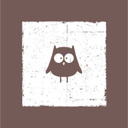 Homeworks Etc - Homeworks Etc Brown Owl Nursery Canvas Wall Art - Enjoy this fun animal canvas wall art depicting a deep brown owl against a white background.  Makes a great baby shower or birthday gift! It's lightweight design is easy to hang.  Finished deep red edge with no framing required.  Canvas stretched over a wooden frame.  Measures 10 x 10 x 1.5-inches.  Perfect for use in  a children's bedroom.
