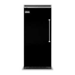 """Viking 36"""" Built-in All-refrigerator, Black Left Hinge 