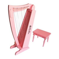 Schoenhut 15 String Pink Harp - The perfect instrument for your little angel! The Schoenhut 15 String Pink Harp is durably crafted of hardwood and hardboard and has a 15-note range every one beautiful. Get your little musician started right. About Schoenhut The Schoenhut story begins in the 1800s when a young Albert Schoenhut began to build toy pianos in his Wurtenberg Germany home. Born into a toy-making family Schoenhut knew his way around a piano at a young age. By the time he was 23 he had already founded the Schoenhut Piano Company. The business started with just pianos but grew to include a variety of instruments. When Schoenhut died in 1912 his company was the largest toy-maker in the United States. Today the company is owned by Len and Renee Trinca. In addition with Schoenhut's original designs Len has designed and crafted new prototypes to add to the company's line. Every product is guaranteed to bring 100 percent satisfaction it's the Schoenhut promise.
