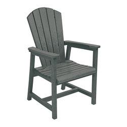 C.R. Plastic Products - C.R. Plastics Addy Dining Arm Chair In Slate Grey - C.R. Plastics Addy Dining Arm Chair In Slate Grey
