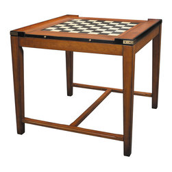 Authentic Models - Authentic Models MF092 Casino Royale Game Table - Style and Spirit! Pull up a comfy chair and select your game of choice! Chess, backgammon, poker, or just a game of cocktails? Easy transformations make our next generation game table into one of the most versatile pieces of furniture imaginable. Shipped disassembled, it makes for easy assembly, but also disassembly and storage. Brass details make this table an indestructible creation for generations of use