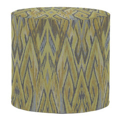Howard Elliott - Ikat No Tip Cylinder Ottoman - The No-Tip Cylinder is constructed with a dense light-weight foam and then topped off by a soft, high quality foam making it sturdy yet comfortable. Its unique design allows weight to be distributed evenly keeping it from tipping like most foam ottomans.