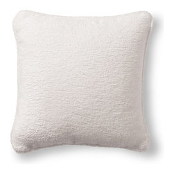 Frontgate - Terry Cloth White Outdoor Pillow - 100% Sunbrella® solution-dyed acrylic fabric. Finished with white terry cloth piping. Resists fading, mold and mildew. High-density polyester fill. Spot clean with mild soap and water; air-dry only. Our Sunbrella Terry Cloth White Outdoor Pillow features the luxurious feel of a looped terry pool towel. Designed to retain its shape and sheen through seasons of driving rain or scorching sun, this Frontgate Exclusive is a perfect addition to any outdoor area. 100% Sunbrella solution-dyed acrylic fabric .  .  .  .  . Sewn closed . Made in the USA.