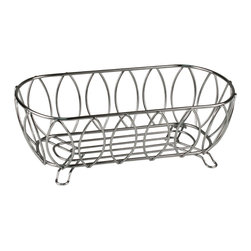 Spectrum Diversified Designs - Leaf Bread Basket - Chrome - Serve bread, rolls and muffins in this Leaf Bread Basket. Made of sturdy black steel with a chrome finish. A favorite hospitality item for restaurants and hotels.