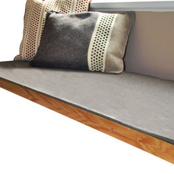 The Felt Store - Felt Bench Cushion - Natural Gray, Natural Gray, 18.5 Inches X  Inches 72 Inches - Provide some extra comfort for your bench with The Felt Store's Felt Bench Cushion! It is made from our Industrial/Technical Felt, which provides a durable and water repellent surface. This felt is resilient in many conditions. This is useful for sitting and resting on a bench where the felt will maintain its shape and texture whilst other materials may show wear and tear.