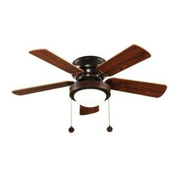 Hampton Bay - Indoor Ceiling Fans: Hampton Bay Capri 36 in. Oil Rubbed Bronze Ceiling Fan with - Shop for Lighting & Fans at The Home Depot. A casual style ceiling fan in bronze finish. The ceiling fan's 3 operating speeds and reverse-air function provide an all year round comfortable interior temperature. Powered by a quiet motor with a single twist lock glass.