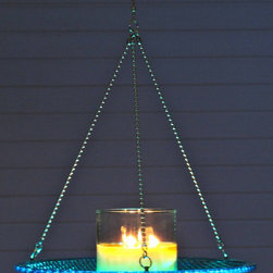 Upcycled trafficlights - Trafficlightware - Trafficlight Lens Candle Holder or Bird Feeder.