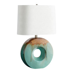 Cyan Design - Oh Table Lamp - Oh table lamp - blue glaze and brown