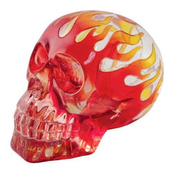 TLT - 4 Inch Translucent Resin Flaming Red Skull Design Statue Decoration - This gorgeous 4 Inch Translucent Resin Flaming Red Skull Design Statue Decoration has the finest details and highest quality you will find anywhere! 4 Inch Translucent Resin Flaming Red Skull Design Statue Decoration is truly remarkable.