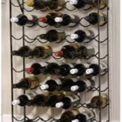 """Oenophilia Alex 60-Bottle Cellar Wine Racks - The only thing that would make the Oenophilia Alex 60-Bottle Cellar Wine Rack more perfect is if it came with 60 bottles of wine. [Sigh.] It has everything you need which is why the granddaddy of the Alexander line is a best-seller. It's strong reliable and extra-secure thanks to the included wall anchors. With its 60-bottle capacity the Alex is ideal for the cellar but the black metal frame is too handsome to hide. About OenophiliaWith a name Greek in origin meaning """"""""the love of wine """""""" Oenophilia delights in fulfilling its mission to bring together products that allow others to love wine with the passion that Oenophilia does. After creating their first product in 1983 the Oenophilia team has continued to produce and manufacture superior wine accessories and is known as one of the leading wholesale suppliers of wine accessories and gifts in the U.S. Although located in Hillsborough NC traveling the world has allowed Oenophilia to provide customers with a premium extensive collection of wine accessories including openers wine racks glassware and gifts. Oenophilia carries their signature line of original designs and packaging as well as exceptional brands such as Vacu-Vin Metrokane Rogar Srewpull and Spiegelau. Bringing eclectic wine products competitive pricing and responsive customer service to the table is the Oenophilia team's way of sharing their passion while achieving their goal of providing customers with a luxurious one-stop shopping experience."""