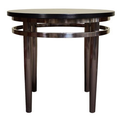 Contemporary Round  Wood & Metal Lamp Table, Side Table - A lovely chic end table with simple styling to enhance any living room, bedroom, den or office.
