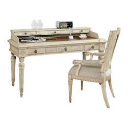 American Drew - American Drew Jessica McClintock Boutique Writing Desk with Side Chair - Writing Desk with Side chair belongs to Jessica McClintock collection by American Drew