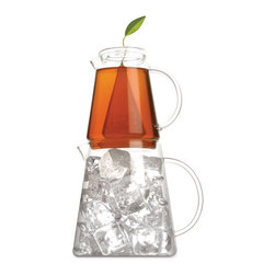 Tea Forté Iced Tea Pitcher System - Can't decide if you want that fresh tea hot or cold? No problem!