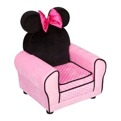 Disney Minnie Mouse Upholstered Sofa Chair - Minnie Mouse arm chair is the perfect spot for your little Mouseketeer to watch her favorite show.