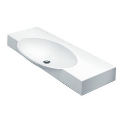 La Toscana - La Toscana Swing 85 Wall Mount Bathroom Sink, White (L1180) - La Toscana L1180 Swing 85 Wall Mount Bathroom Sink, White