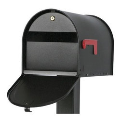 SOLAR GROUP - Mailbox Lock Venetian Bronze - Locking curbside mailbox can help protect against identity and mail theft. The fashionable door conceals and weather protects the large incoming mail slot and key-lock for retrieving your mail. Made of steel with a durable black textured powder coat finis h. This large size mailbox is versatile with mounting holes on the side and bottom to fit most mailbox brackets.