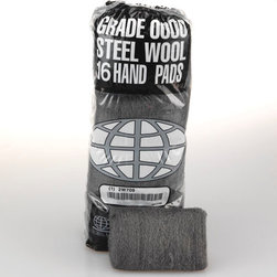 GLOBAL MATERIAL TECHNOLOGIES - #0 STEEL WOOL 16 PAD SLEEVE|12SLV/CS - Hand-size steel wool pads for general use. Choose from eight grades for professional results on stripping, cleaning, finishing and polishing tasks. 16 pads per poly sleeve. 12 sleeves per case. Shpg. wt. 10-lbs.. . . . . #0 Medium Fine. . #0 Medium Fine. Industrial-Quality Steel Wool Hand Pads. Dimensions: Height: 1, Length: 1, Width: 0.9. Country of Origin: US