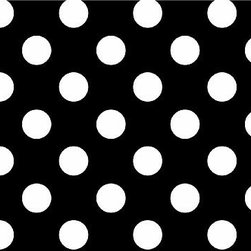 "SheetWorld - Fitted Pack N Play Sheet - Primary Polka Dots Black Woven - Made in USA - This luxurious 100% cotton ""woven"" pack n play (large) sheet features white polka dots on a solid black background. Our sheets are made of the highest quality fabric that's measured at a 280 tc. That means these sheets are soft and durable. Sheets are made with deep pockets and are elasticized around the entire edge which prevents it from slipping off the mattress, thereby keeping your baby safe. These sheets are so durable that they will last all through your baby's growing years. We're called Sheetworld because we produce the highest grade sheets on the market today. Size: 29.5"" x 42""."